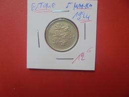 ESTONIE 5 MARKA 1924 BELLE QUALITE  (A.7) - Estland
