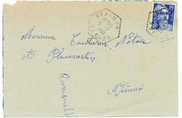 France Vendée Réaumur Cachet F7 Du 05/07/1955 Sur N° 886 Y. Et T. - Manual Postmarks