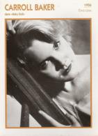 Carroll BAKER (Baby Doll) 1956  - Fiche Portrait Star Cinéma - Filmographie -  Photo Collection Edito Service - Fotos