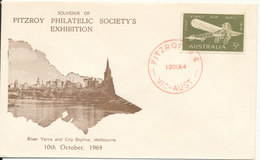 Australia Cover 10-10-1964 Fitzroy Philatelic Society's With Cachet - 1952-65 Elizabeth II : Pre-Decimals