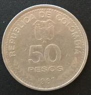 COLOMBIE - COLOMBIA - 50 PESOS 1987 - KM 272 - CENTENARIO CONSTITUCION NACIONAL 1886 - Colombie