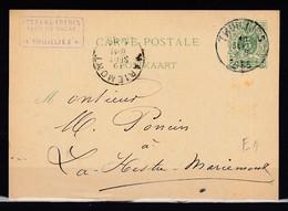 Postkaart Van Thuillies Naar La Hestre Mariemont - Entiers Postaux