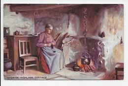 """Scottish Life"" - Interior Highland Cottage - Tuck Oilette 9275 - Ecosse"
