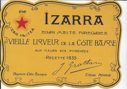 BUVARD   LIQUEUR IZARRA COTE BASQUE - Liqueur & Bière