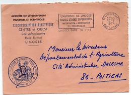 France Hte Vienne Limoges Gare Flamme Illustrée Du 16/07/1974 En Franchise Postale - Maschinenstempel (Werbestempel)