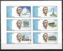 1972 SHARJAH Michel 875B-80B** De Gaulle, Arc De Triomphe, Tour Eillel ,variété Point Blanc Sur Notre-Dame, Concorde - Sharjah