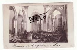 Loo (2 Originele Foto's - Ruine De L'église/Rue De Dixmude) - Lo-Reninge