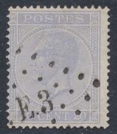 émission 1865 - N°18 Obl Ambulant Pt E.3 (Bruxelles - Verviers) / Nuance. - 1865-1866 Profiel Links
