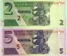 ZIMBABWE       Set 2+5 Dollars       P-New       2019       UNC - Simbabwe