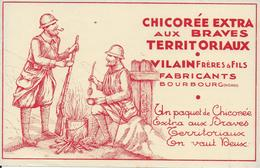 BUVARD   CHICOREE AUX BRAVES TERRITORIAUX VILAIN BOURBOURG NORD - Koffie En Thee