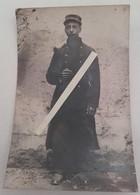 1914 Poilu 72 Eme Régiment D'infanterie Amiens Morlaix Jugulaire Képi Tréssée Tranchée Ww1 1914 Carte Photo - Guerre, Militaire