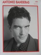 Antonio BANDERAS (1990)   - Fiche Portrait Star Cinéma - Filmographie -  Photo Collection Edito Service - Fotos