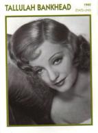 Tallulah BANKHEAD (1940)   - Fiche Portrait Star Cinéma - Filmographie -  Photo Collection Edito Service - Fotos