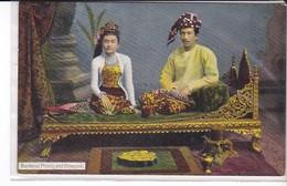 Cpa Old Pc Birmanie Burma Prince Et Princesse Rangoon - Myanmar (Burma)