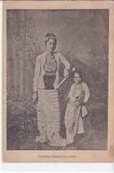 Cpa Old Pc Birmanie Burma Princesse Et Fille - Myanmar (Burma)