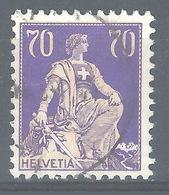 CC-/-349-  N° 207a, PAPIER GRILLE  , VOIR LES SCANS ,  Obl.,  Cote 4.00 € . Je Liquide - Switzerland