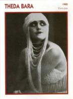 Theda BARA (1920)  - Fiche Portrait Star Cinéma - Filmographie -  Photo Collection Edito Service - Fotos
