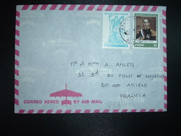 LETTRE Pour La FRANCE TP MARISCAL ANDRES A. CACERES 85 + TP ANOS DE LOS DEBERES CIUDADANOS 15 OBL. - Perú