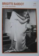 Brigitte BARDOT (Et Dieu Créa La Femme) (1955)  - Fiche Portrait Star Cinéma -  Photo Collection Edito Service - Fotos