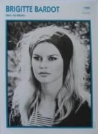 Brigitte BARDOT (Le Mépris)   (1960)  - Fiche Portrait Star Cinéma - Filmographie -  Photo Collection Edito Service - Fotos