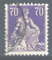 CC-/-619-  N° 207a, Papier Grillé, Obl.,  Cote 4.00 € . Je Liquide - Switzerland