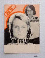 CLAUDE FRANCOIS  & ALAIN CHAMFORT - Tournée ETE 73 -  Carte Souple  14,5 X 10,5 - Dos Muet - Singers & Musicians