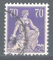 CC-/-387-  N° 207a, Papier Grillé, Obl.,  Cote 4.00 € . Je Liquide - Switzerland