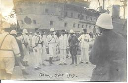 Photo Cpa -départ Oran (Algérie) Pour Casablanca ( Maroc )-Aôut 1907- - Guerre, Militaire