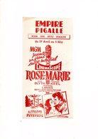 BUVARD Cinémascope ROSE MARIE Empire Pigalle - Buvards, Protège-cahiers Illustrés