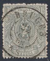 """Petit Lion Dentelé - N°23 Obl Double Cercle """"Bruges"""" - 1866-1867 Coat Of Arms"""