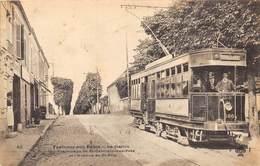 92-FONTENAY-AUX-ROSES- LA STATION DE TRAMWAYS DE ST-GERMAIN-DES-PRES ET L'AVENUE DE ST-PRIX - Fontenay Aux Roses