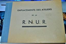 Rare Carnet De La Régie Nationale Des Usines Renault Comprenant Les Emplacements Des Ateliers - Vieux Papiers