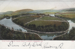 Etats-Unis - Reading PA - Schuylkill River From Point Lookout - Paillettes - Unclassified