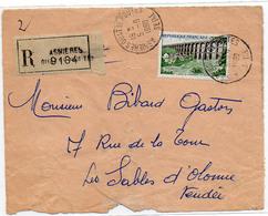 France Hts De Seine Asnières Quatre Routes Cachet A7 Sur Devant Lettre En Rec Du 05/09/1960 Sur N° 1240 Y. Et T. - Marcophilie (Lettres)