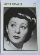 Sylvia BATAILLE  (1940) - Fiche Portrait Star Cinéma - Filmographie -  Photo Collection Edito Service - Fotos