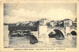 Cpa ROMANS SUR ISERE (Drôme) 26 - Pont Détruit, 20 Juin 1940 - La Passerelle (publicité BYRRH) - Romans Sur Isere