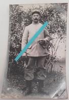 1915 Poilu 2 Eme Régiment D'infanterie De Marine Marsouin RIC Insigne Képi Culotte Velours Tranchée Ww1 1914 Carte Photo - Guerre, Militaire