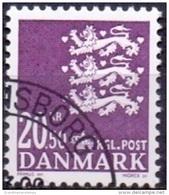 DENEMARKEN 2008 20.50kr Rijkswapen Violet GB-USED. - Danimarca
