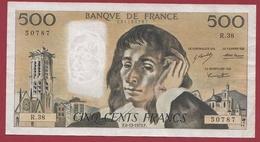 "500 Francs""Pascal"" Du 06/12/1973.F----TTB+---ALPH.R.38 - 500 F 1968-1993 ''Pascal''"