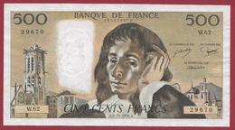 "500 Francs""Pascal"" Du 04/11/1976.A.----TTB+---ALPH.W.62 - 1962-1997 ''Francs''"