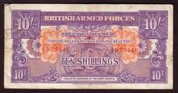 Billet ROYAUME UNI - British Armed Forces 10 Shillings 1945 -  Pick M14 - Emissions Militaires