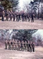 2 Photos Couleurs Originales - Militaires Mixtes En Avril 1984 - Pistolen-Buddy Von Bud Spencer - Ausbilde MP Harry - Guerre, Militaire