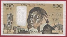 """500 Francs""""Pascal"""" Du 06/11/1975.C.----TTB+---ALPH.P.52 - 1962-1997 ''Francs''"""