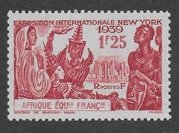 AFRIQUE EQUATORIALE FRANCAISE - AEF - A.E.F. - 1939 - YT 70** - Neufs