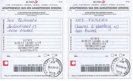 Récépissé De Dépôt De Deux Envois Recommandés - 2009 - Formule 201 PoD - Documenti Della Posta