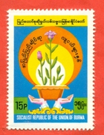 Burma 1985.  International Youth Year.  Unused Stamp. - Childhood & Youth