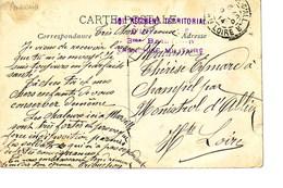 Franchise Militaire Griffe Du 101 Régiment Territorial D'infanterie De Marseille  1914 - Poststempel (Briefe)