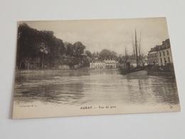 Ancienne Carte Postale Cpa Auray Vue Du Port Voilier à Quai - Auray