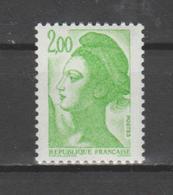 FRANCE / 1982 / Y&T N° 2188a ** : Liberté 2F Vert-jaune (1 Seule Bande PHO à Droite) X 1 - Unused Stamps