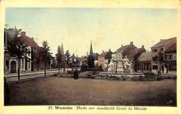 Westerloo - Markt Met Standbeeld Graff De Mérode (Uitg. Der Huizen Salen En Coenen) - Westerlo